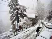 Fresh snowfall in Kashmir Valley
